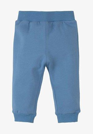 MIT ELASTISCHEM BUND - Tracksuit bottoms - chalky azure blue