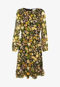 Wallis Petite - GARDEN FLORAL FRILL FIT AND FLARE DRESS - Day dress - black - 4