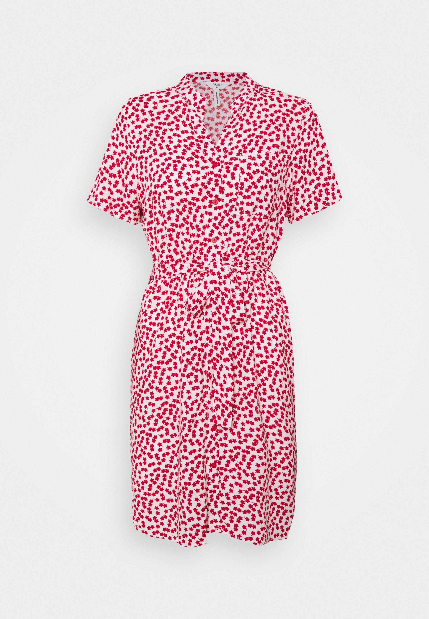 Women OBJELISE SHIRT DRESS PETIT - Day dress