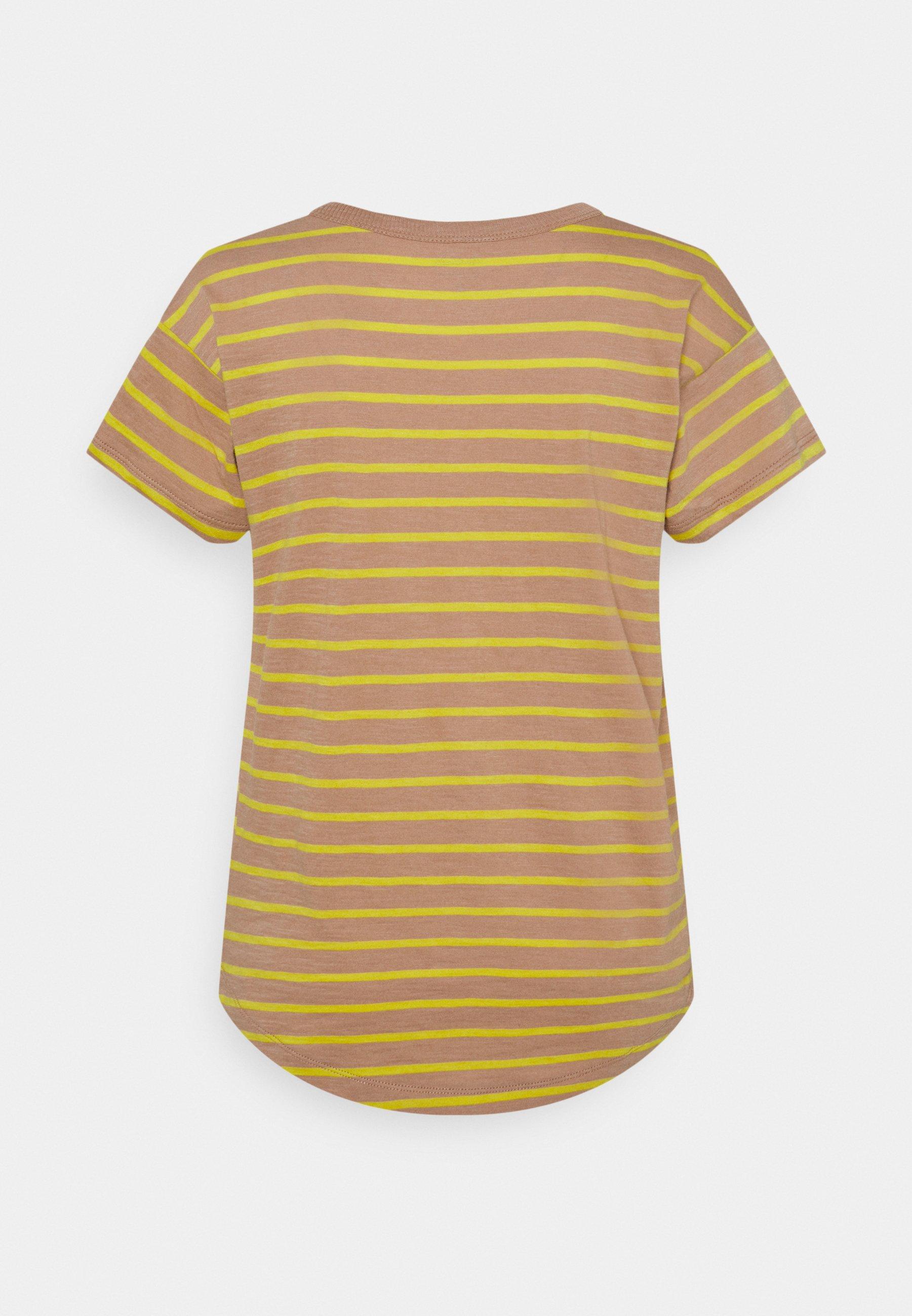 Damen SORREL WHISPER CREWNECK TEE IN LOBSTER STRIPE - T-Shirt print