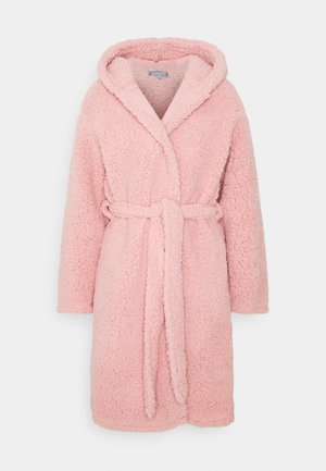 HOODED ROBE - Dressing gown - pink