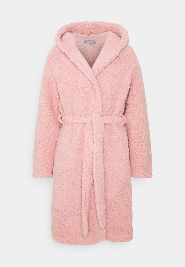 HOODED ROBE - Peignoir - pink