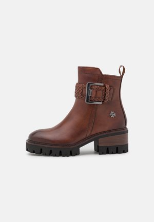 BY GUIDO MARIA KRETSCHMER - Platform ankle boots - cognac antic