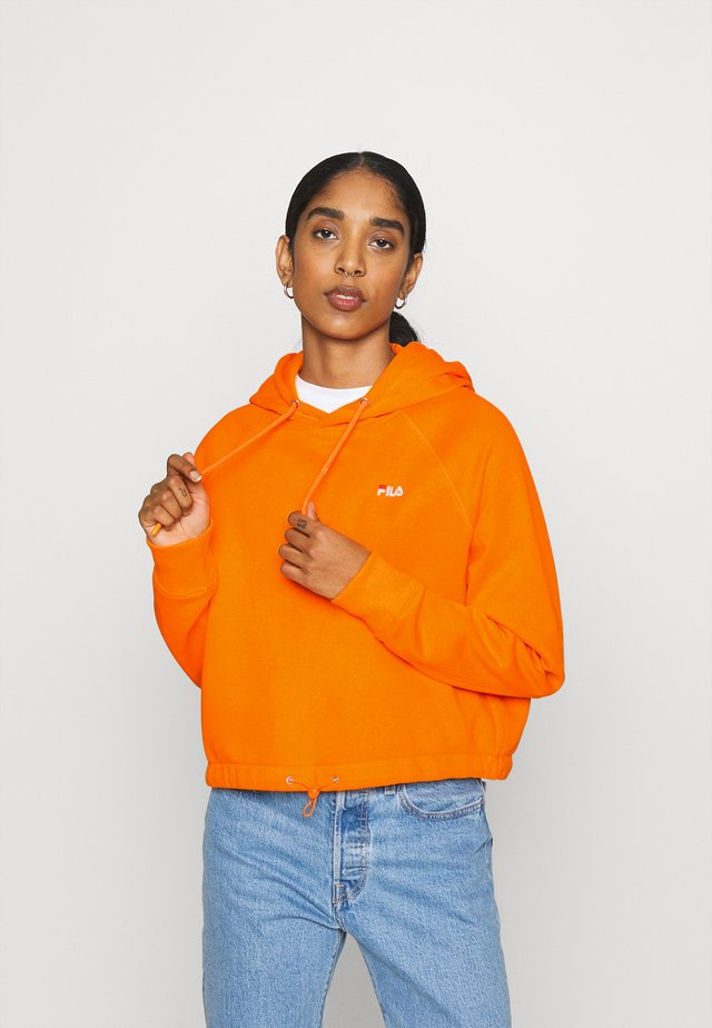 ELAXI CROPPED HOODY - Bluza z kapturem - orange popsicle