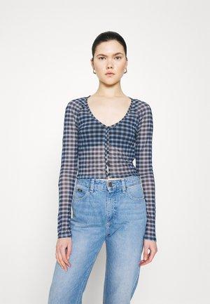 NICOLE - Long sleeved top - blue