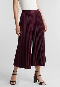Esprit Collection - CULOTTE - Trousers - bordeaux red - 0