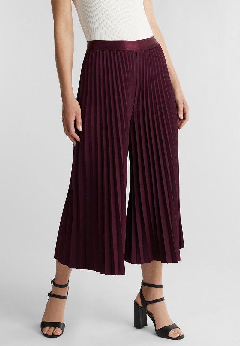 Esprit Collection - CULOTTE - Trousers - bordeaux red