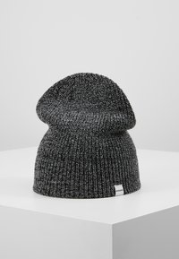 Jack & Jones - JACTWISTED SHORT BEANIE - Muts - black/grey melange - 3