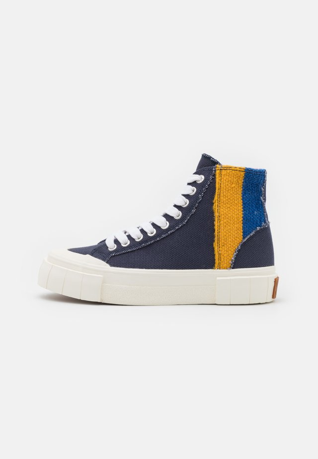 PALM MOROCCAN UNISEX - Höga sneakers - navy