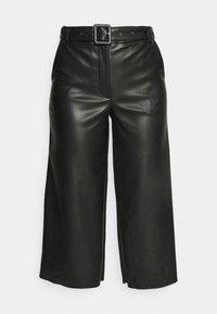 VILA PETITE - VIDOLORES CROPPED WIDE PANTS - Pantalones - black - 3