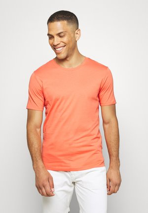 SLHTHEPERFECT ONECK TEE  - T-shirts basic - coral