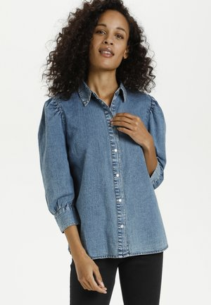 KAMARIE - Button-down blouse - washed denim