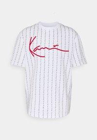 Karl Kani - SIGNATURE LOGO TEE - T-shirt con stampa - white - 3