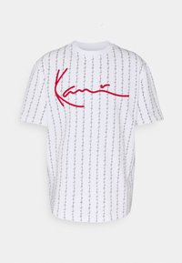 SIGNATURE LOGO TEE - Print T-shirt - white