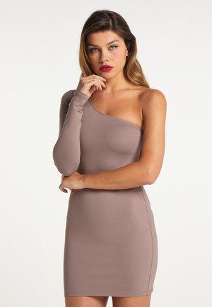 STRETCH - Shift dress - dunkeltaupe