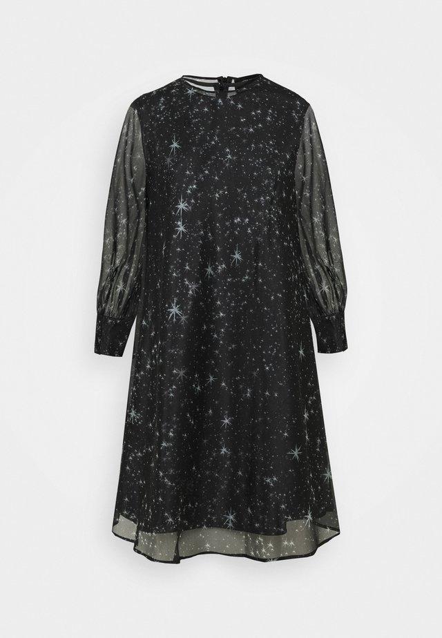 CURVONE 2-IN-1 - Sukienka z dżerseju - schwarzweiss