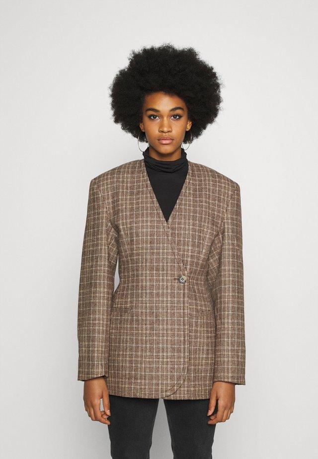 SHARP  - Krótki płaszcz - brown
