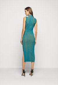 Hervé Léger - SLEEVELESS TURTLENECK DRESS - Vestito elegante - tidal wave - 2