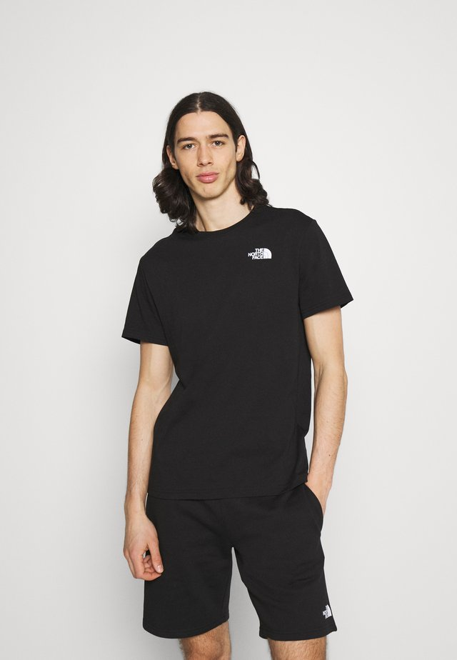 DISTORTED LOGO - T-shirt con stampa - black/peak purple