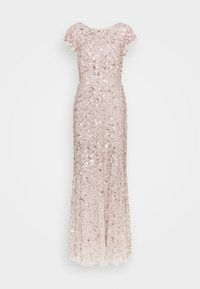 Maya Deluxe - FLUTTER SLEEVE ALL OVER SEQUIN MAXI DRESS - Abito da sera - rose gold - 1