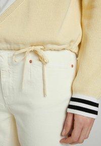 Oui - Jumper - yellow white - 4