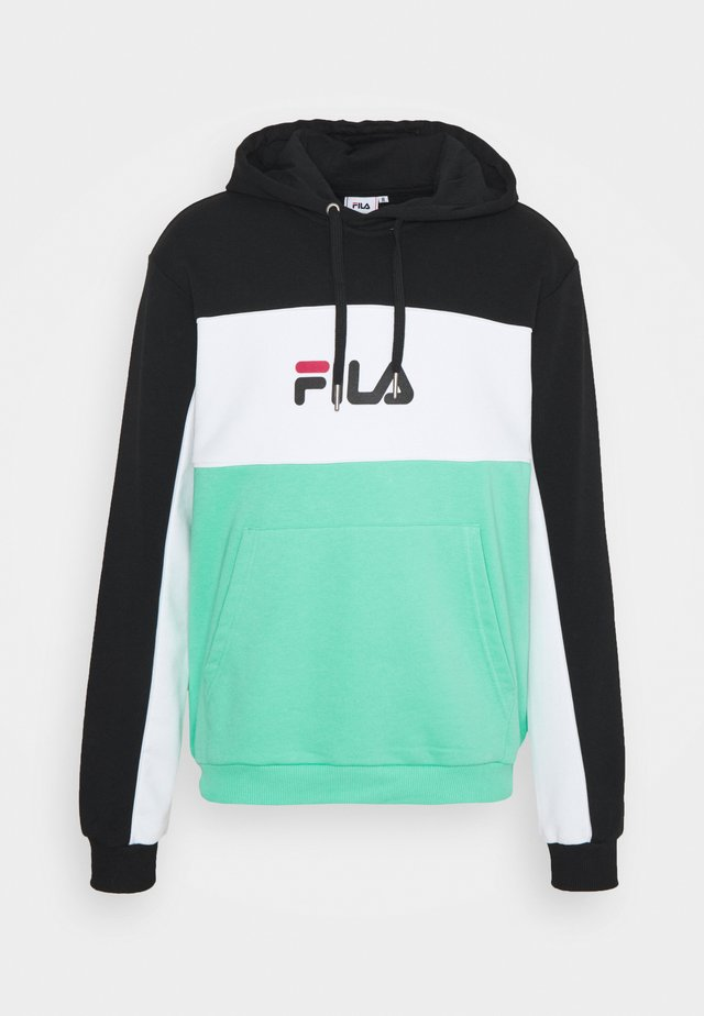 ANALU BLOCKED HOODY - Mikina - biscay green/black/bright white