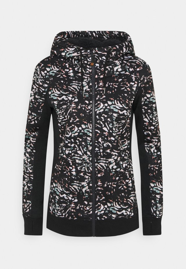 FROST PRINTED - Fleece jacket - true black izi