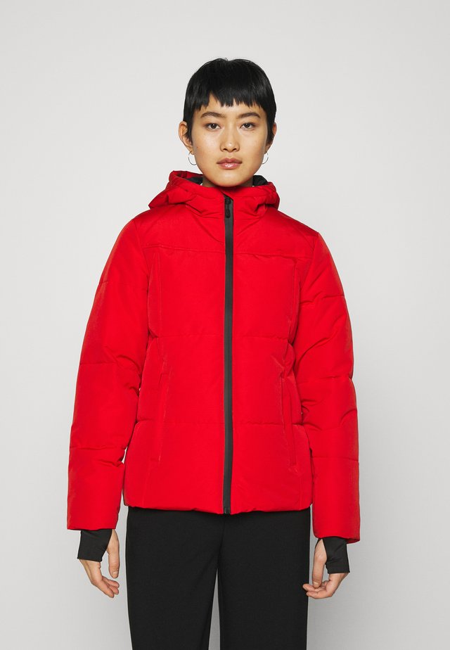 NIKKIE LOGO SKI JACKET - Winter jacket - rough red