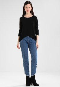 ONLY - ONLSONJA MIDA WRAP - Long sleeved top - black - 1