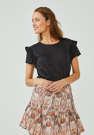 SALLY BRODERIE - Blouse - black