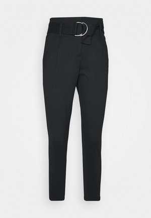 VMBAILEY PAPERBAG BELT PANTS - Pantalones - black
