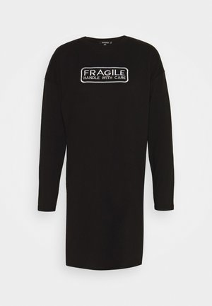 GRAPHIC LONG SLEEVE DRESS - Jerseykleid - black