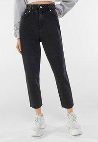Bershka - Jeans straight leg - dark grey - 0