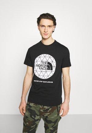 GEODOME TEE - T-shirt med print - black