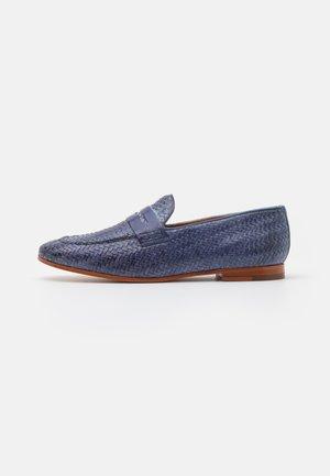 SCARLETT 52 - Nazouvací boty - moroccan blue/tan/natural