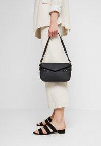 Missguided - STUD DETAIL SHOULDER BAG - Handbag - black - 1