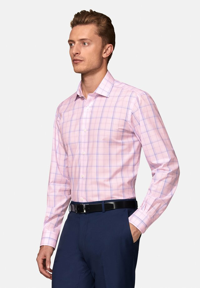 SLIM FIT PRINCE OF WALES  - Shirt - pink