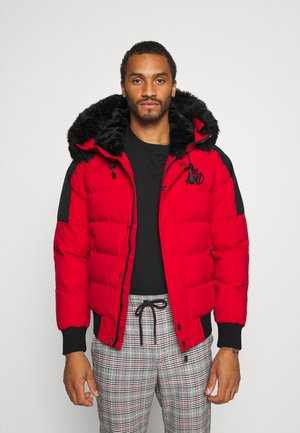 PUFFER BOMBER JACKET - Winter jacket - red