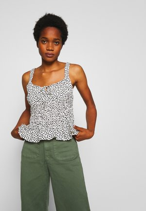 HEART SHIRRED CAMI - Top - mono