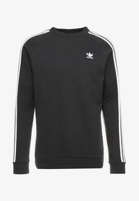 adidas Originals - 3 STRIPES CREW UNISEX - Sweatshirts - black - 4