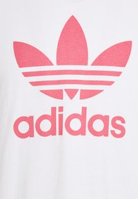 adidas Originals - TREFOIL UNISEX - T-shirt med print - white/hazy rose - 2