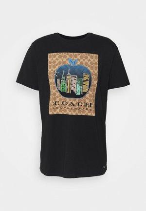 APPLE SIGNATURE  - Print T-shirt - black