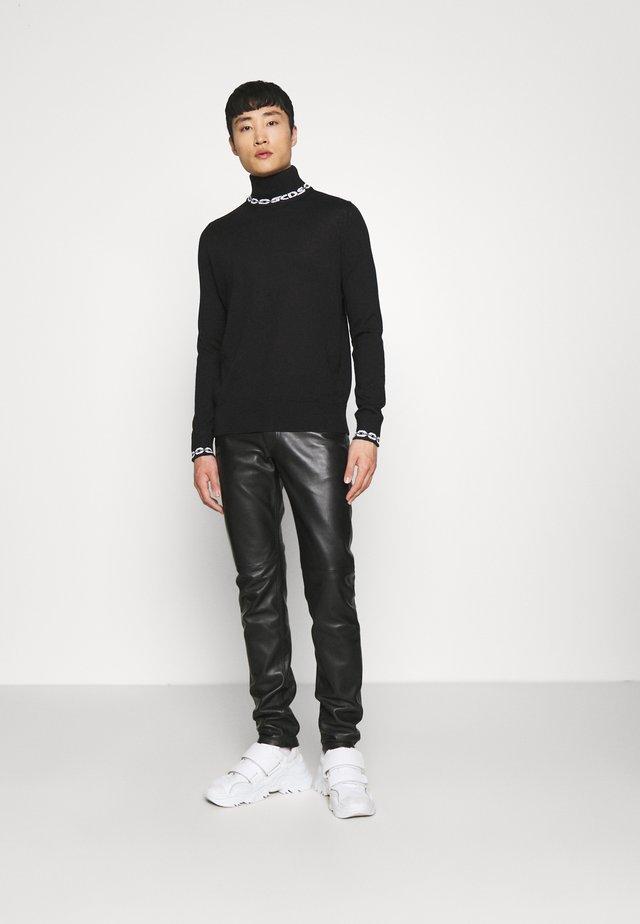 CHAIN TURTLENECK UNISEX - Pullover - black