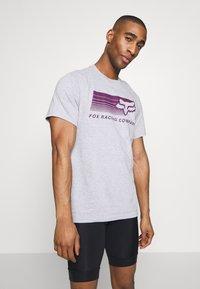 Fox Racing - DRIFTER TEE - T-Shirt print - light heather grey - 0