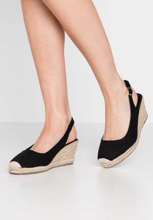 WIDE FIT SLING - Espadrillas - black
