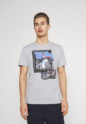 HARBOUR - T-shirt print - light stone grey melange