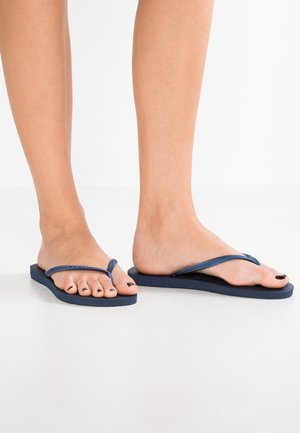 SLIM - T-bar sandals - navy blue