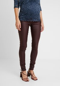 MAMALICIOUS - Jeans Slim Fit - decadent chocolate - 0