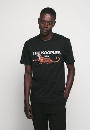 TIGER LOGO - T-shirt med print - black