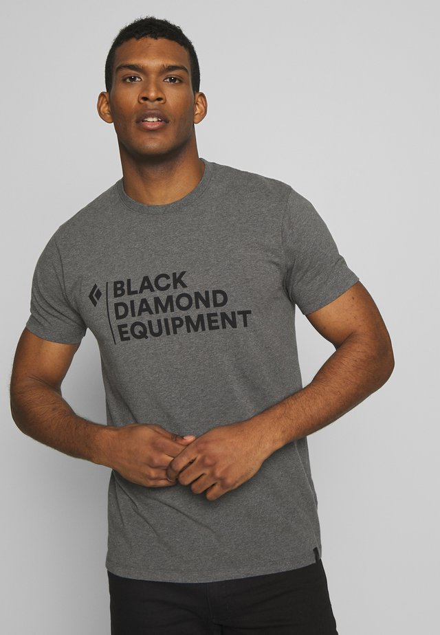 STACKED LOGO TEE - Print T-shirt - charcoal heather